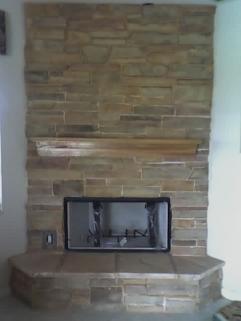 Custome Stone Fireplace