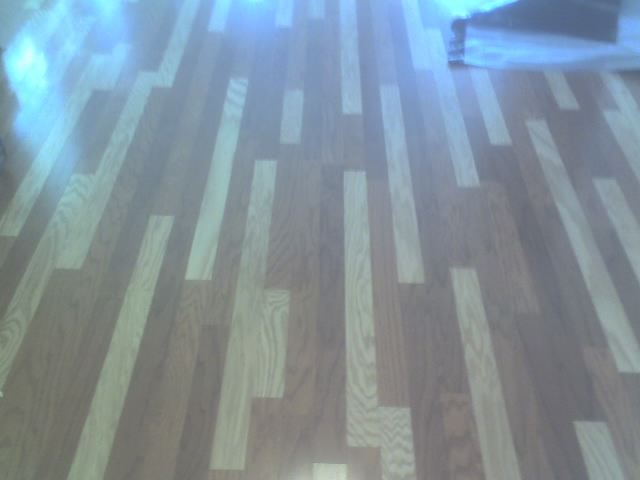 Multi color wood floor