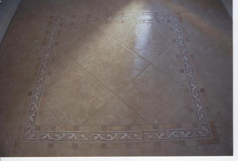 Tile patterned floor